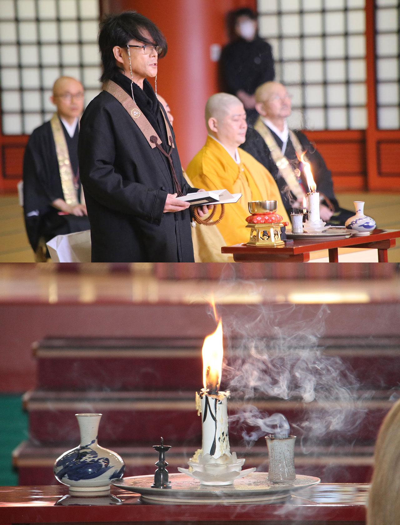 「T-BOLAN」の森友嵐士さんが総本山金剛寺に来訪