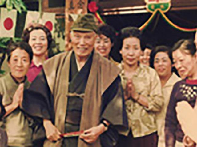 昭和45年、世安町の布教所前での親先生