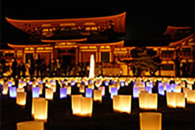 光の海と祈りの広場