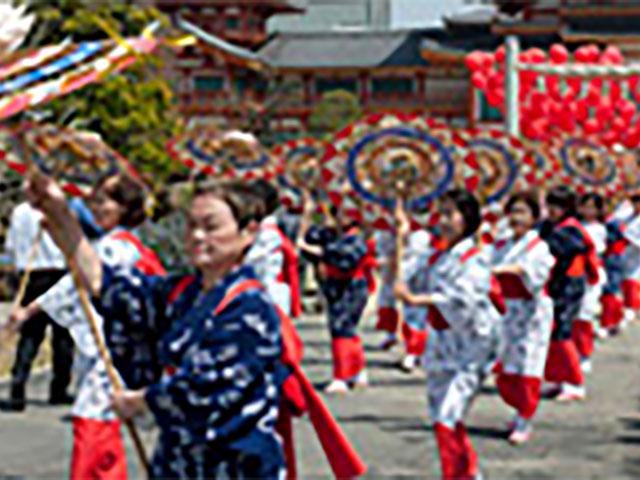 傘おどりパレード/KOBEよさこい(神戸念法寺)