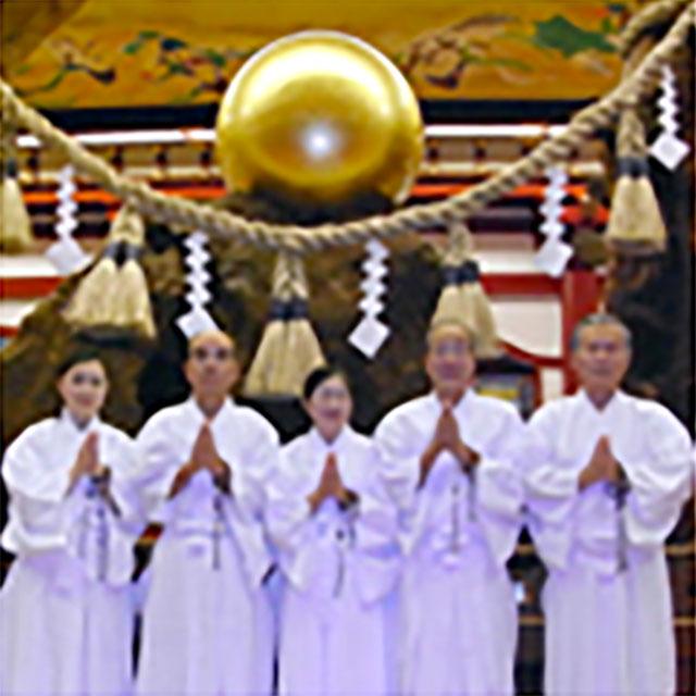 岡山念法寺チーム(男性3人、女性2人)