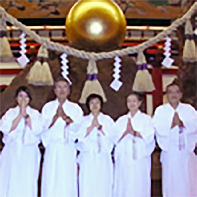 鹿児島念法寺チーム(男性2人、女性3人)