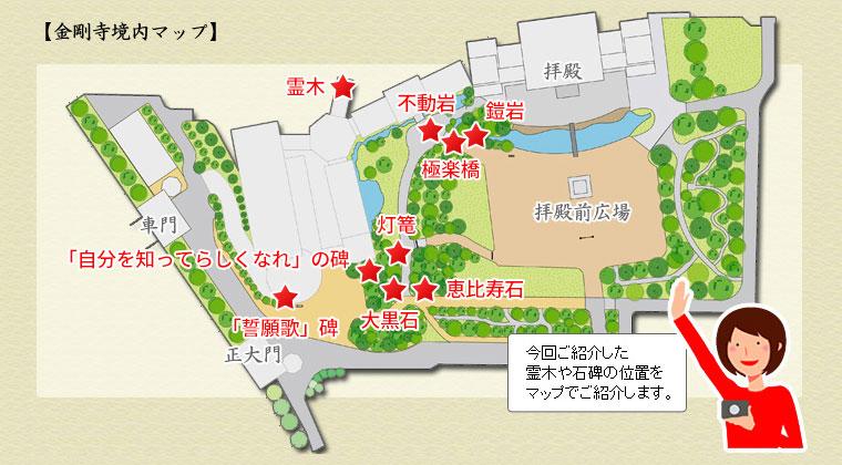 金剛寺境内マップ